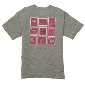 Southern Stamp Tee: Heather Grey Short Sleeve
